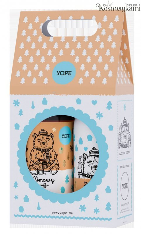 Yope Zestaw Prezentowy Zimowy Muffin- Mydło do rąk+Balsam do ciała