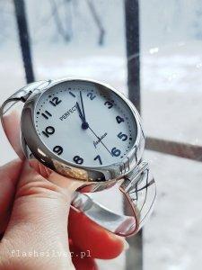 Zegarek ze srebra kod 878 duży czytelny