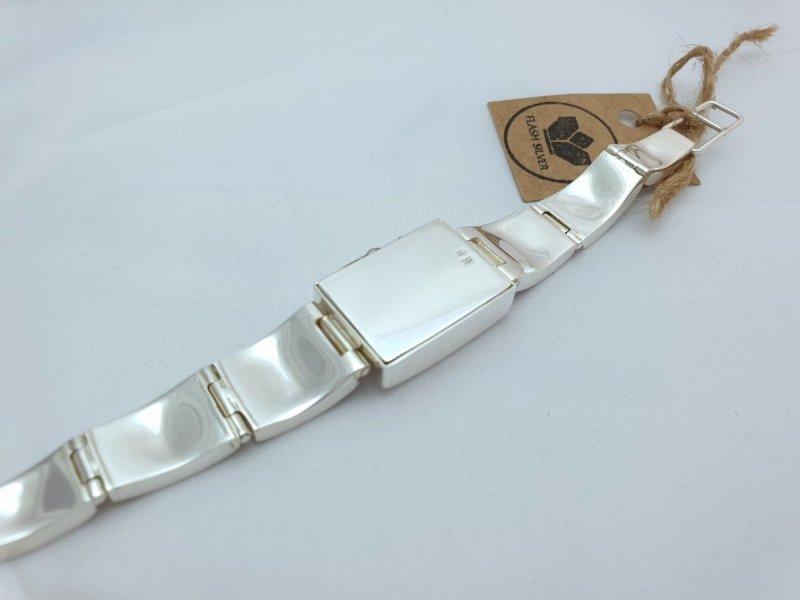 zegarek ze srebra 925, zegarek ze srebra z bursztynem naturalnym