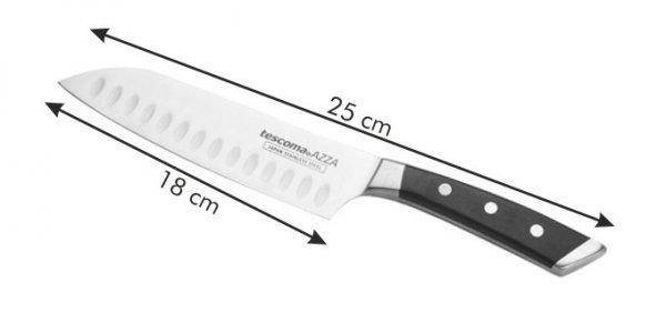 Nóż japoński AZZA SANTOKU 18 cm Tescoma