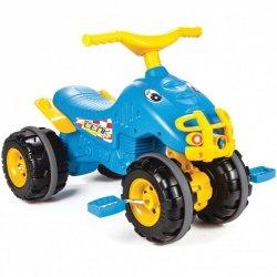 WOOPIE Quad na Pedały Monster Jeździk Ciche Koła Niebieski