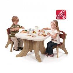 STEP2 Brązowy Stół - Stolik zabaw z krzesełkami