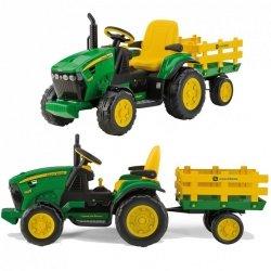 Traktor Na akumulator Peg Perego John Deere Power Pull z Przyczepą