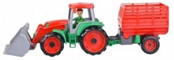 Truxx Traktor z przyczepą do siana w otwartym pudełku