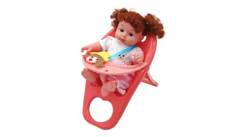 Lalka Natalka dźwięk łóżeczko+ krzesełko 12el 28cm