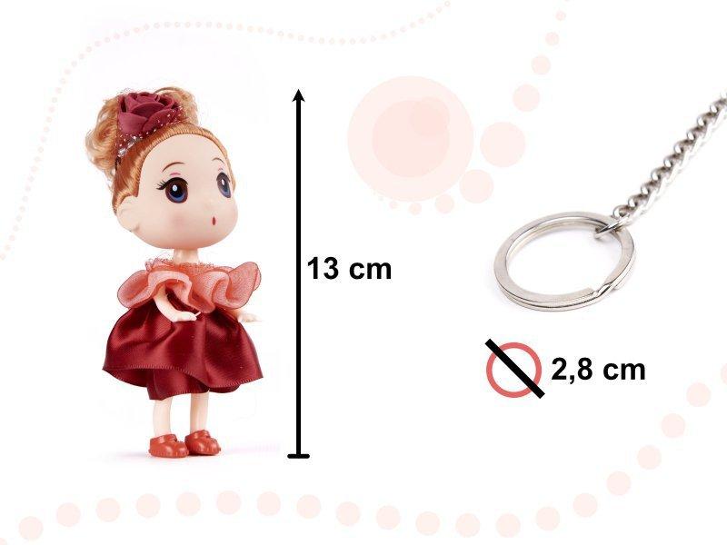 Lalki do domku dla lalek dziewczynka + chłopczyk zestaw 2szt. 12cm