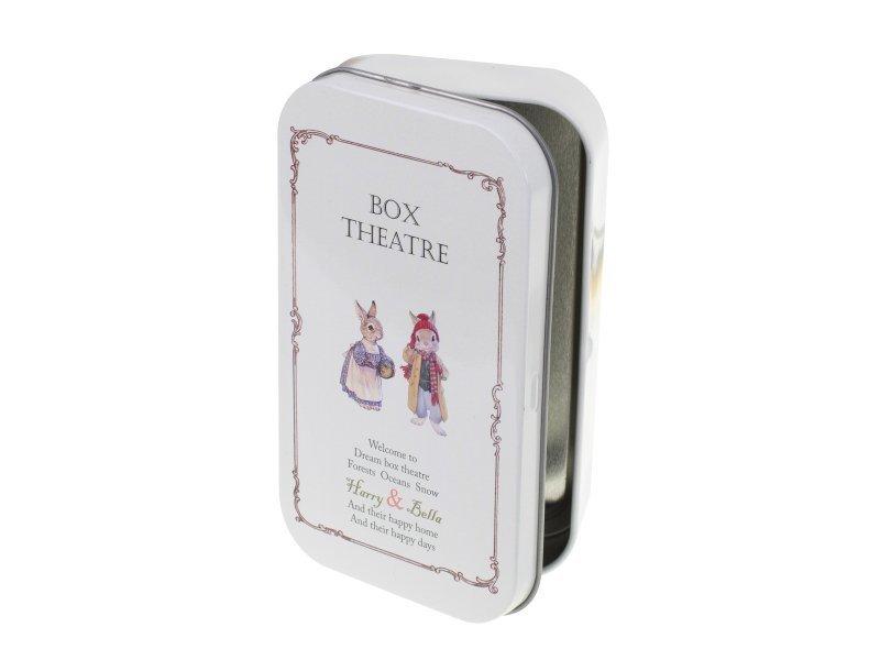Domek dla lalek w pudełku miniaturka zimowy las DIY