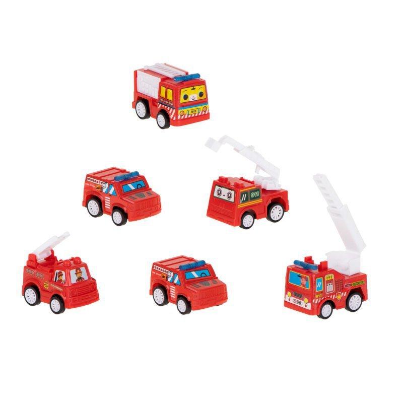 Samochód z napędem straż pożarna  6szt zestaw