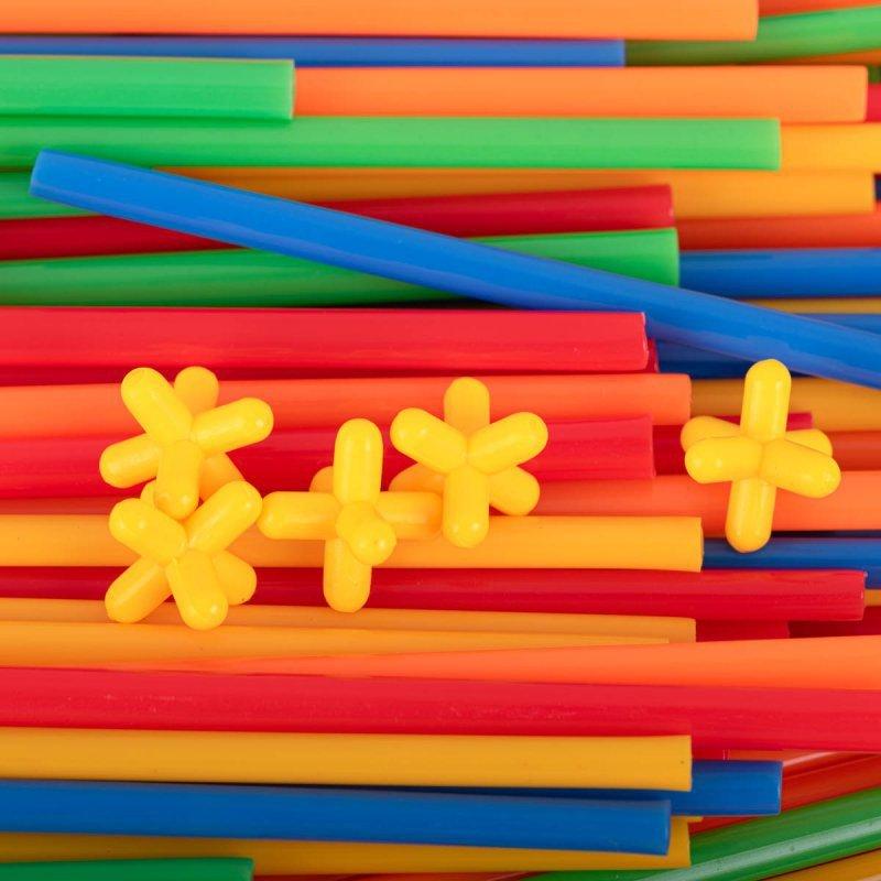 Słomki do budowania klocki konstrukcyjne BOX 700el