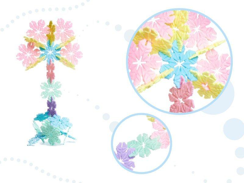 Klocki Przestrzenne wafle gwiazdki śnieżynki edukacyjne 240el