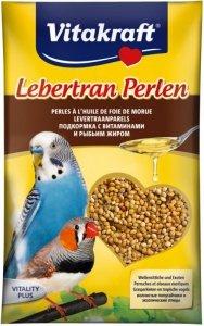 Vitakraft Lebertran Perlen pokarm z tranem dla papugi falistej 20 gram