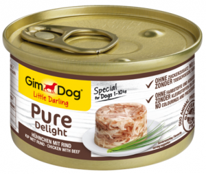 GimDog Pure Deli puszka dla psa z kurczakiem i wołowiną 5g