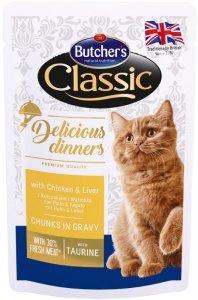Butchers Saszetka 100g z kura wątróbką dla kota