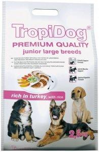 Tropidog Premium Junior Large Breeds - Indyk i Ryż 2,5kg