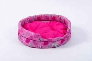 Derma  legowisko z poduszką różowe 2