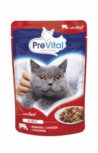 PreVital saszetka dla kota 100g wołowina, galaretka