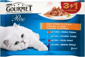 Gourmet Perle Standart saszetki mięsne 3+1gratis 4x85g