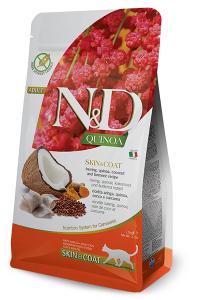 ND Cat NG Adult Quinoa 300g Skin&Coat Herring