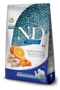 ND Dog Ocean Ad M&M 2,5kg Pumpkin Codfish Orange