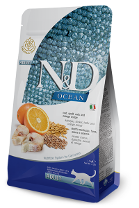 ND Cat Ocean 6773 Adult 300g Cod spelt oats orange