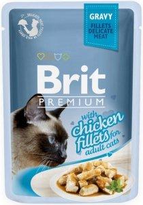 Brit Premium Cat 85g Kurczak sos saszetka