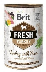 Brit Fresh Puszka Turkey & Peas 400 gram
