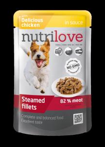 Nutrilove Dog kurczak w sosie 85g