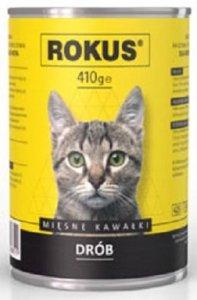 Rokus Cat- Mięsne kawałki z drobiem 410g
