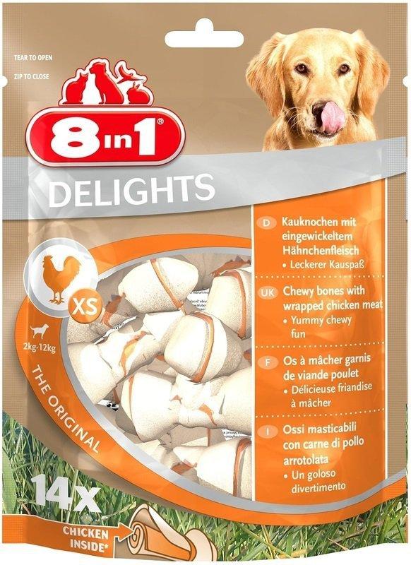 8in1 Przysmak Delights Bones XS 14szt