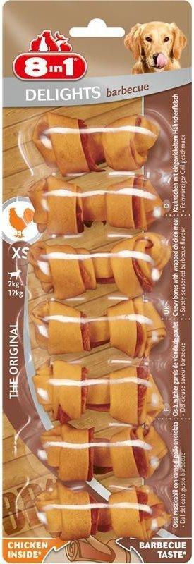 8in1 Przysmak Delights Barbecue XS 7szt