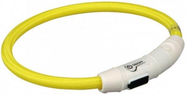 Trixie Obroża z lampą błyskową USB L-XL zółt