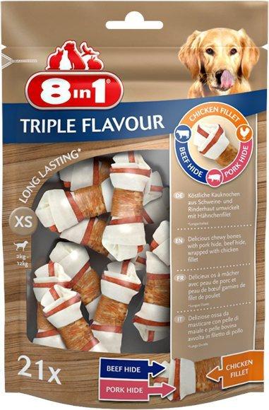 8in1 Przysmak Triple Flavour XS- 21szt