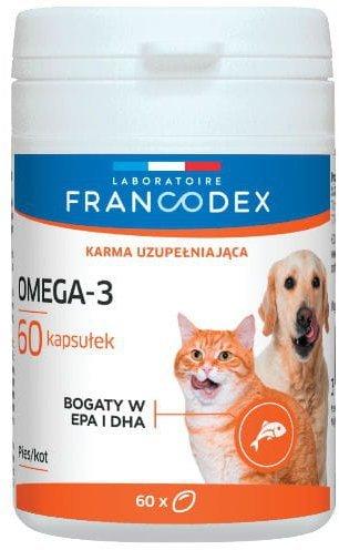 Francodex Omega-3 suplement dla psa i kota 60 tabl