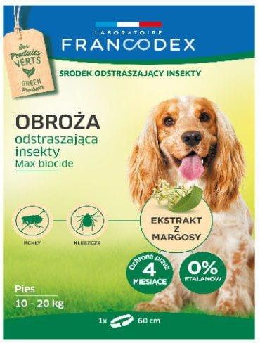 Francodex Obroża insektobójcza dla średni psa 60cm