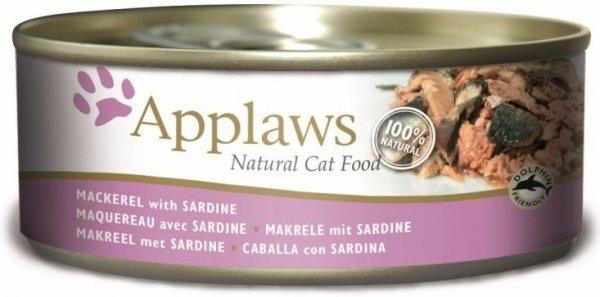 Applaws Cat Makrela Sardynka 156g puszka