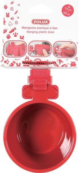Zolux Miska zawieszana 12cm red