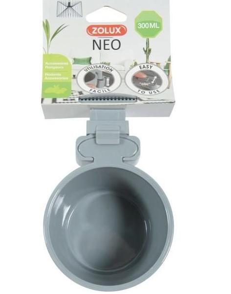 Zolux Miska plastikowa NEO zawieszana 9,5cm kolor szary