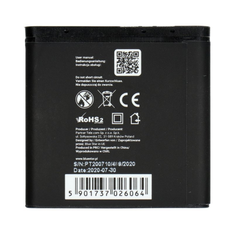 Bateria do Nokia 6280/9300/6151/N73 1200 mAh Li-Ion Blue Star PREMIUM