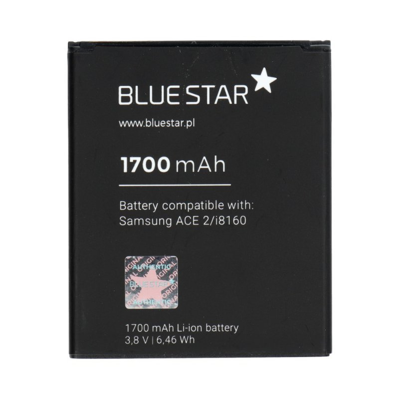 Bateria do Samsung I8160 Galaxy Ace 2/S7562 Duos/S7560 Galaxy Trend/S7580 Trend Plus 1700 mAh Li-Ion Blue Star PREMIUM