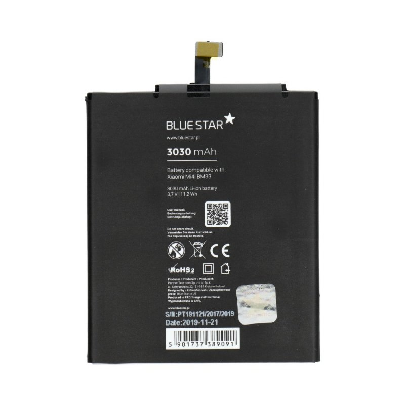 Bateria do Xiaomi Mi4i (BM33) 3030 mAh Li-Ion Blue Star