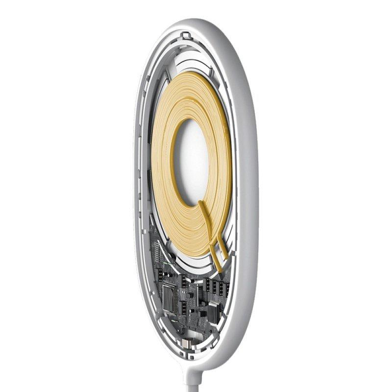 BASEUS ładowarka indukcyjna Light Magnetic 15W do MagSafe Iphone 12 biała WXQJ-02