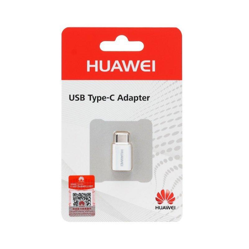 Oryginalny Adapter Huawei AP52 USB typ C biały blister