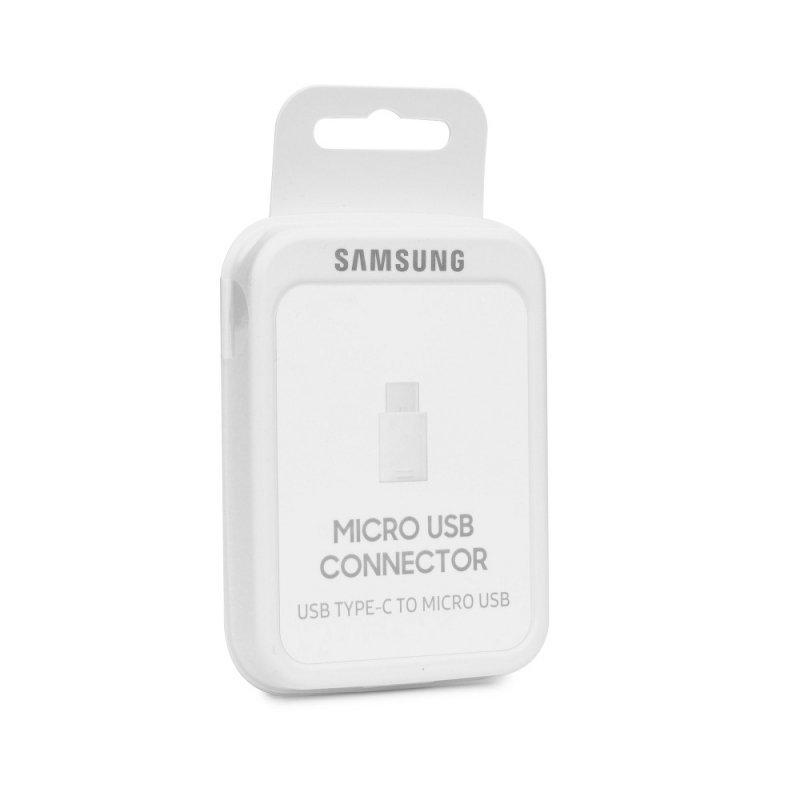 Oryginalny Adapter SAMSUNG EE-GN930BWEGWW USB typ C - Micro USB biały blister