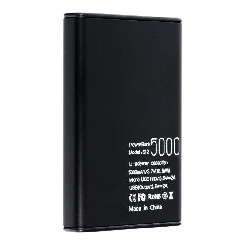 Bateria zewnętrzna (POWER BANK) PURIDEA S12 5000 mAh czarny