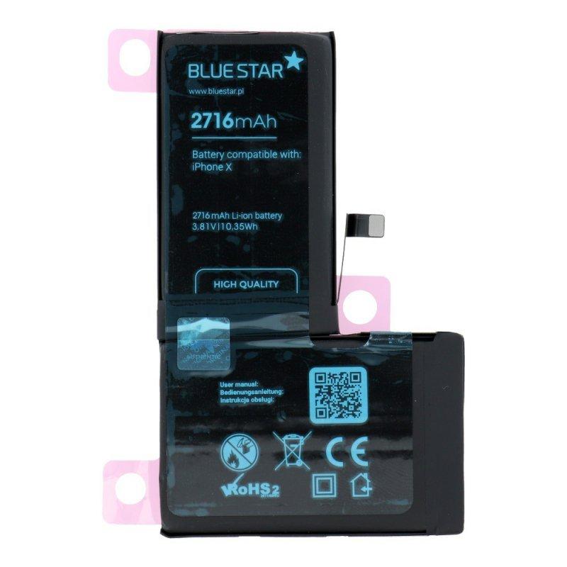Bateria do Iphone X 2716 mAh Polymer Blue Star HQ