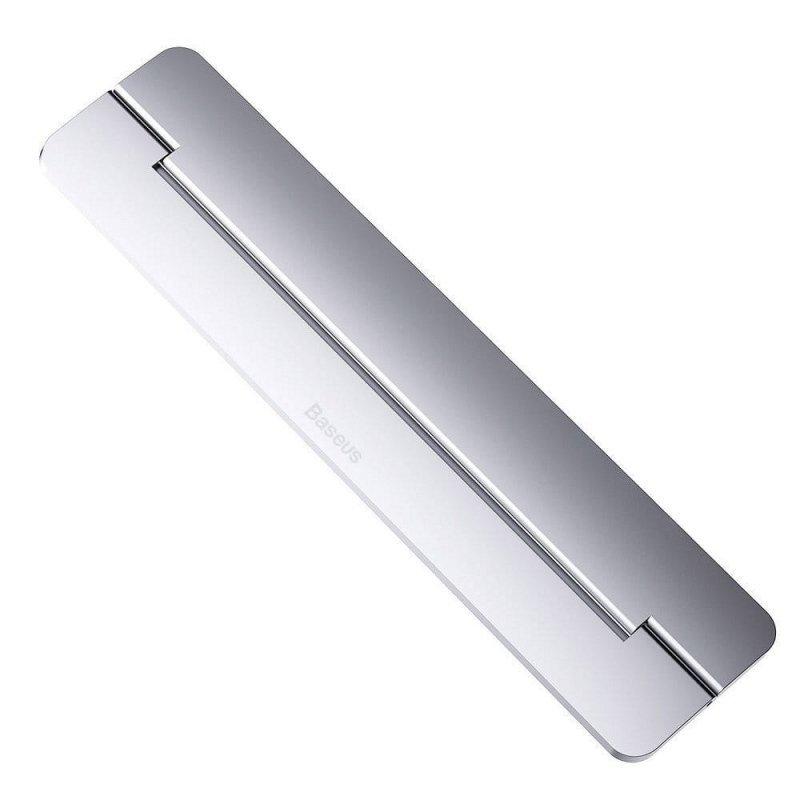 BASEUS podkładka / podstawka pod laptop Papery srebrna SUZC-0S
