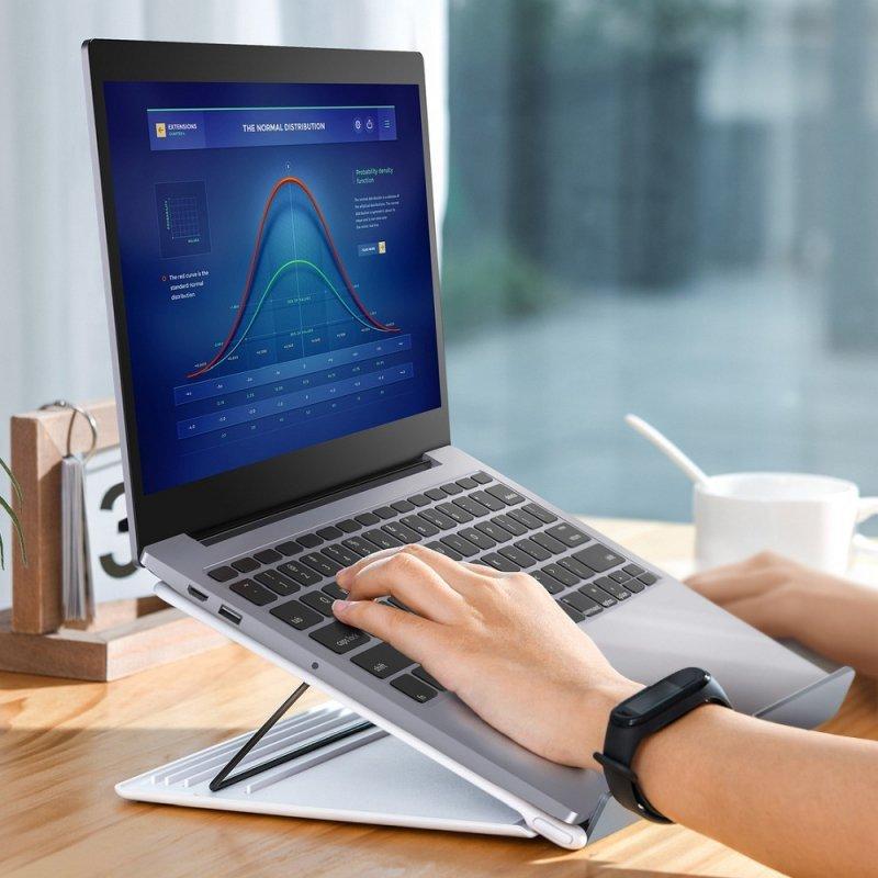BASEUS podkładka / podstawka pod laptop Mesh biało-szara SUDD-2G