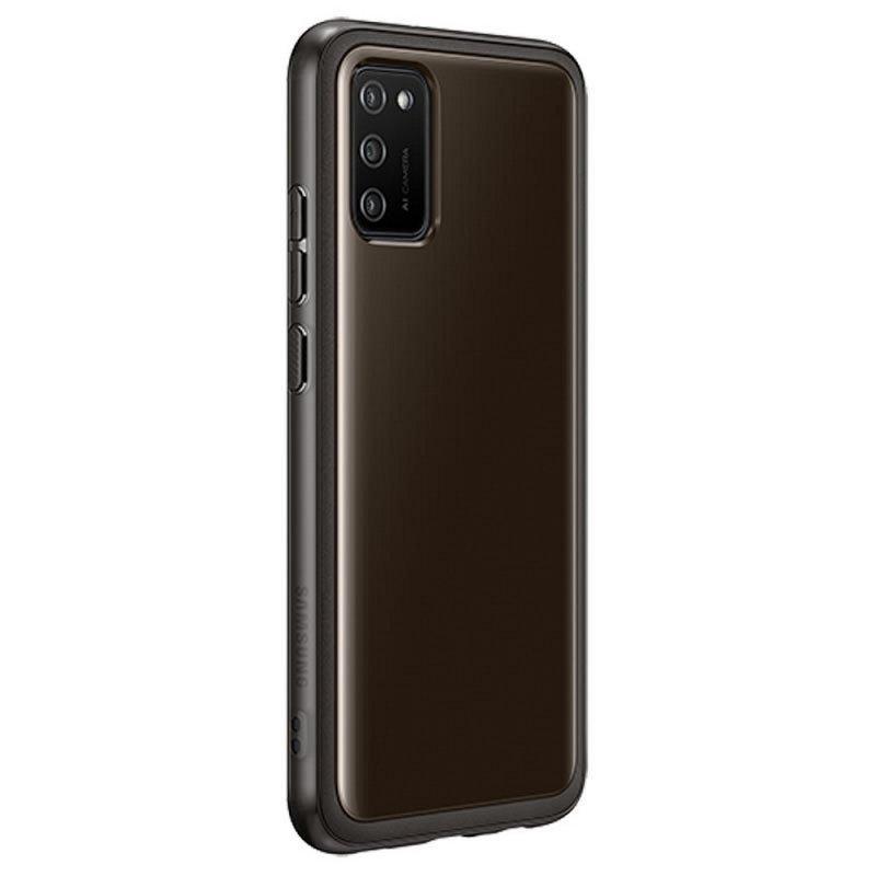 Oryginalny Futerał Clear Cover EF-QA026TBEGEU Samsung Galaxy A02s czarny blister