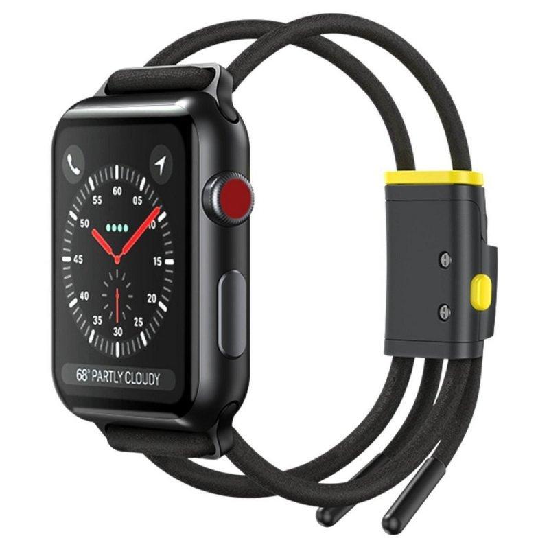 BASEUS pasek do Apple Watch 38mm / 40mm Let`s Go szaro-zółty LBAPWA4-AGY