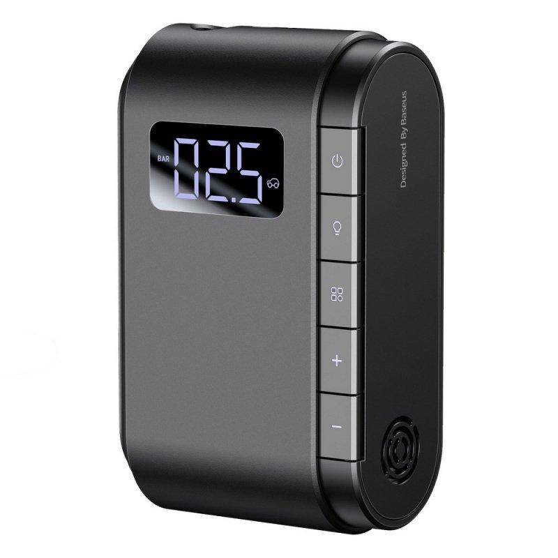 BASEUS mini kompresor samochodowy z LCD Dynamic Eye Inflator czarny CRCQB03-01
